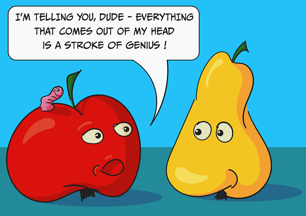 Fruits Talking - digital illustration by Mihai, The Illustration Guy