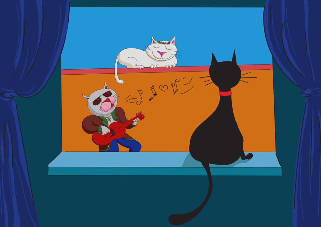 Quarantine Cats - digital illustration by Mihai, The Illustration Guy