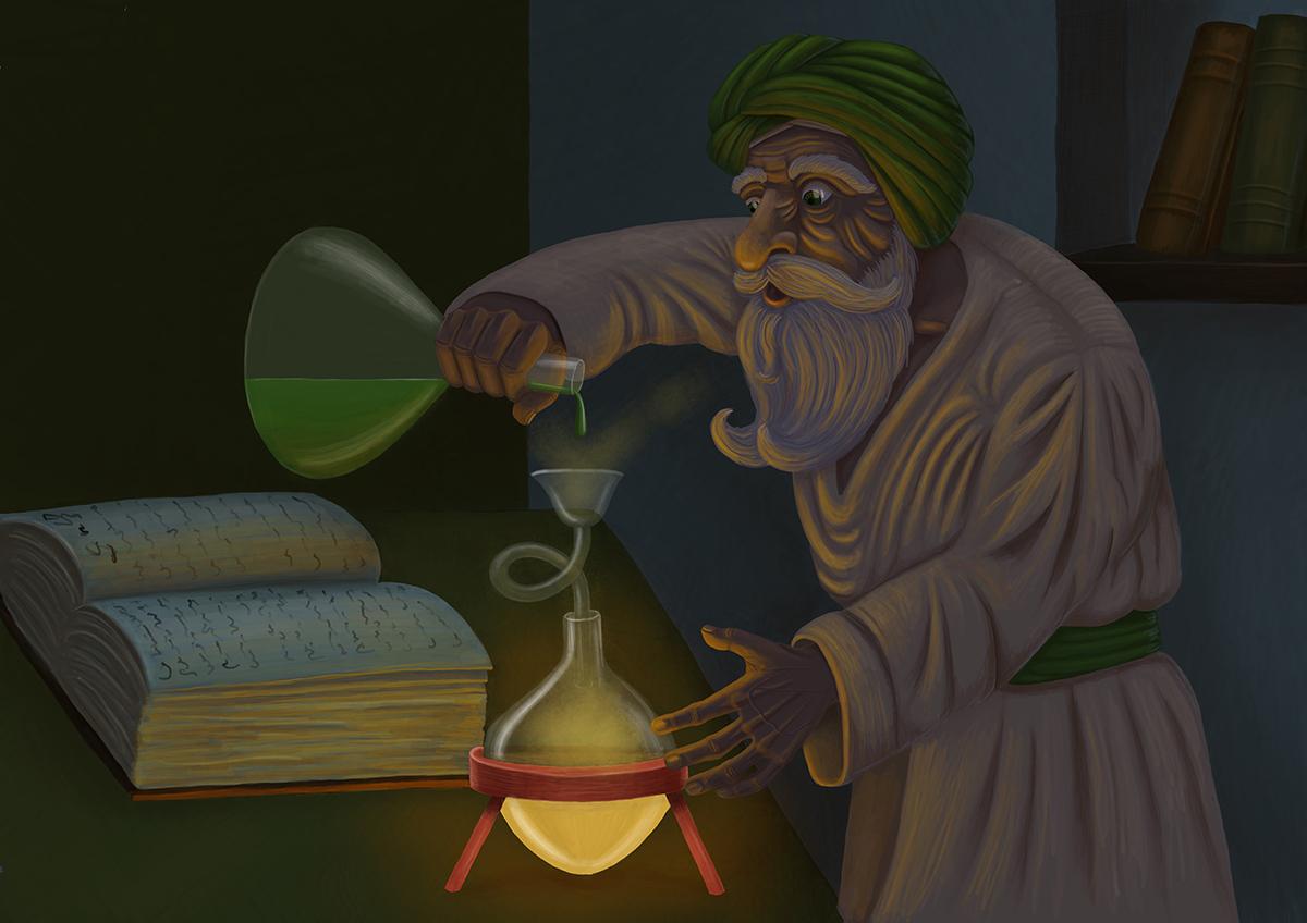 The Alchemist - illustration by Mihai, The Illustration Guy